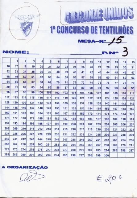 Concurso de Tentilhôes-C.R.Onze Unidos-Lisboa MEsa15