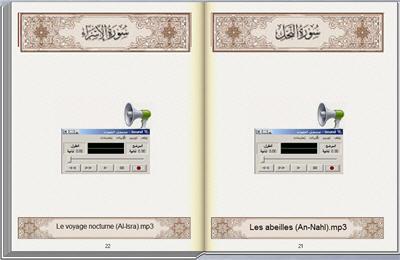 Signification du Saint Coran Traduit en français Programme Parcourir et écouter 33_2