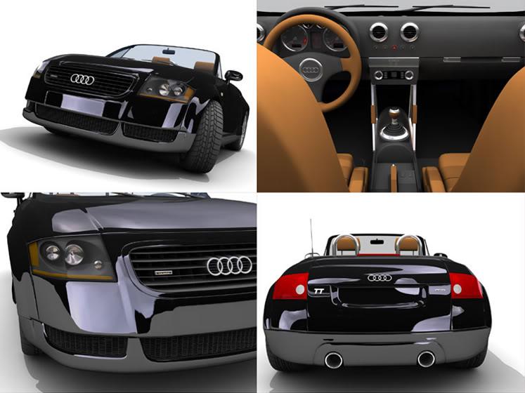 Tutoriales Completos 3Ds MAX (Ferrari F430, Audi TT Roaster , Lamborgini Murcielago, Mini Cooper) Audi