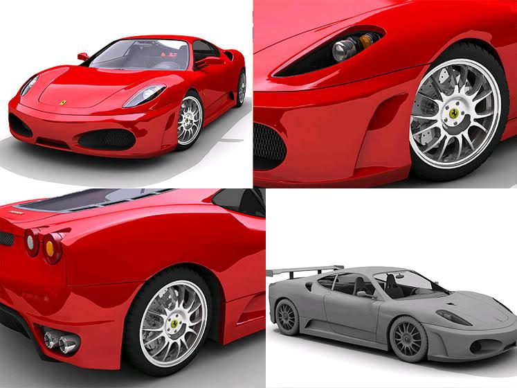 Tutoriales Completos 3Ds MAX (Ferrari F430, Audi TT Roaster , Lamborgini Murcielago, Mini Cooper) Ferrari