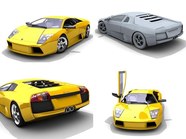 Tutoriales Completos 3Ds MAX (Ferrari F430, Audi TT Roaster , Lamborgini Murcielago, Mini Cooper) Lamborgini