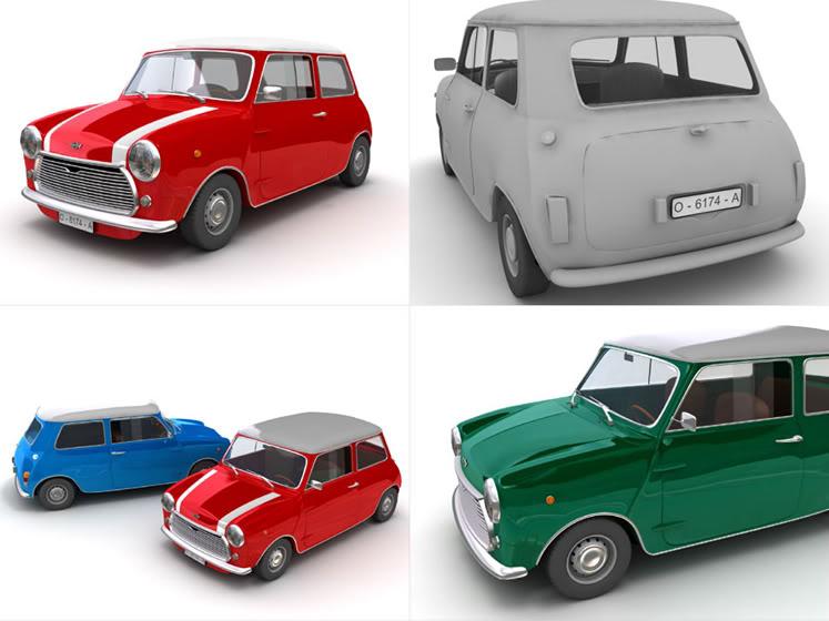 Tutoriales Completos 3Ds MAX (Ferrari F430, Audi TT Roaster , Lamborgini Murcielago, Mini Cooper) Mini
