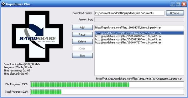 برنامج للتحميل من الرابيدشير بدون حدود RapidShare Plus 2009 600-70585d
