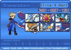 The Gym Leaders / Elite Four WaterTrainerCard