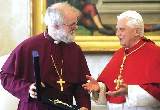 Brittanië nu volledig Rooms Katholiek? RowanPopeGift