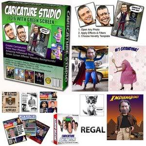 حول أي صورة الى كريكاتير وركب صورك فى مواقف طريفة مع الرائع Caricature Studio GDK