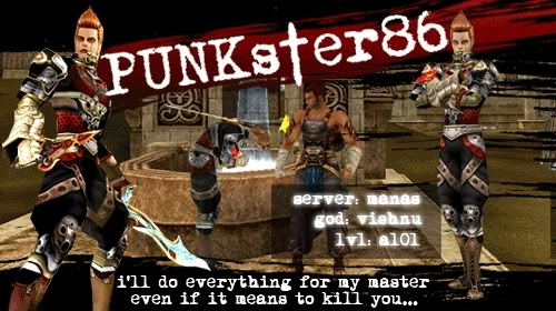 Your first subject Punkster