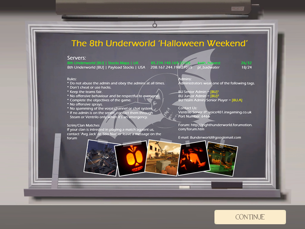 Propose design for the servers 'Message Of The Day' 8UMOTDFullboardHalloween