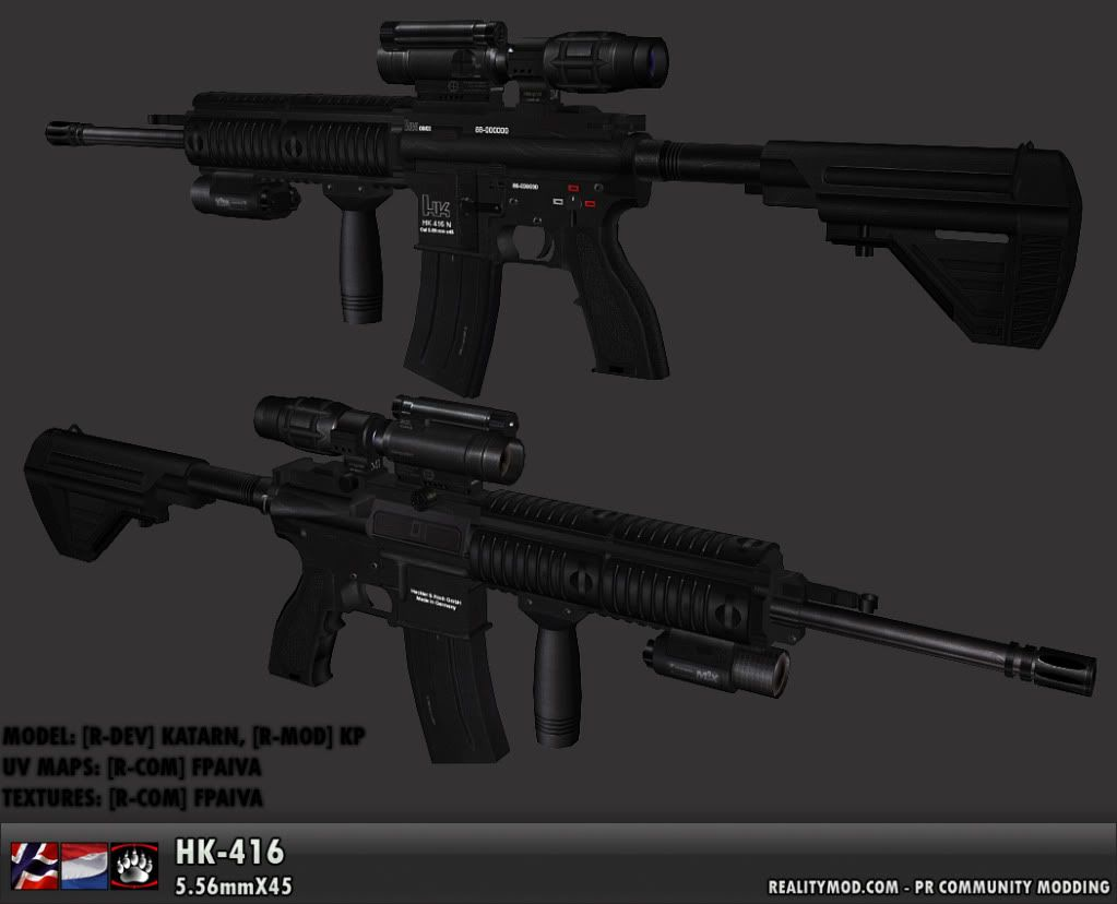 News Flash PR BF2 HK-416rf