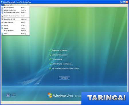 VirtualBox 2.1.0 sistema operativo virtual! Vista