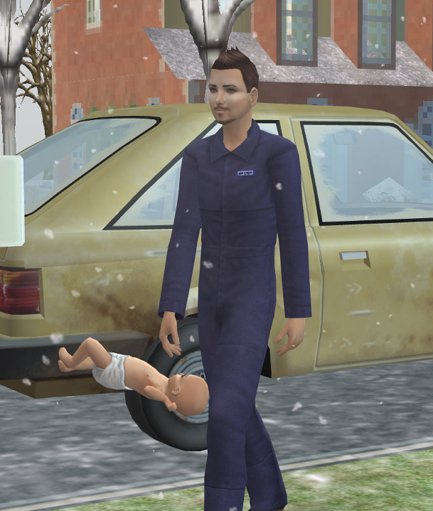 Annoying Sims 2 Glitches Took-the-baby-to-work