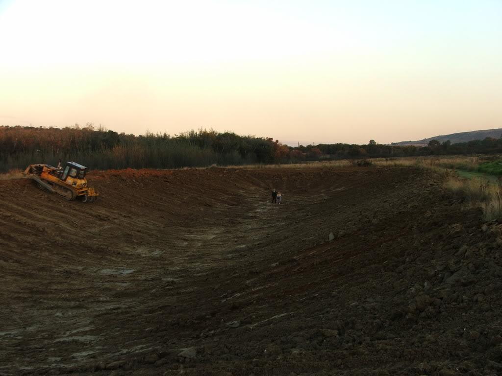 A new mud pond at Orient Koi Farm DSCF6377