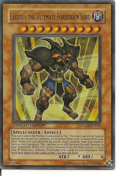 The most powerful looking card in play ExodiustheUltimateForbiddenLordyugi