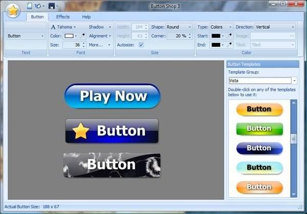 ButtonShop.v3.08 Thiết kế nút nhấn dễ dàng ButtonShop