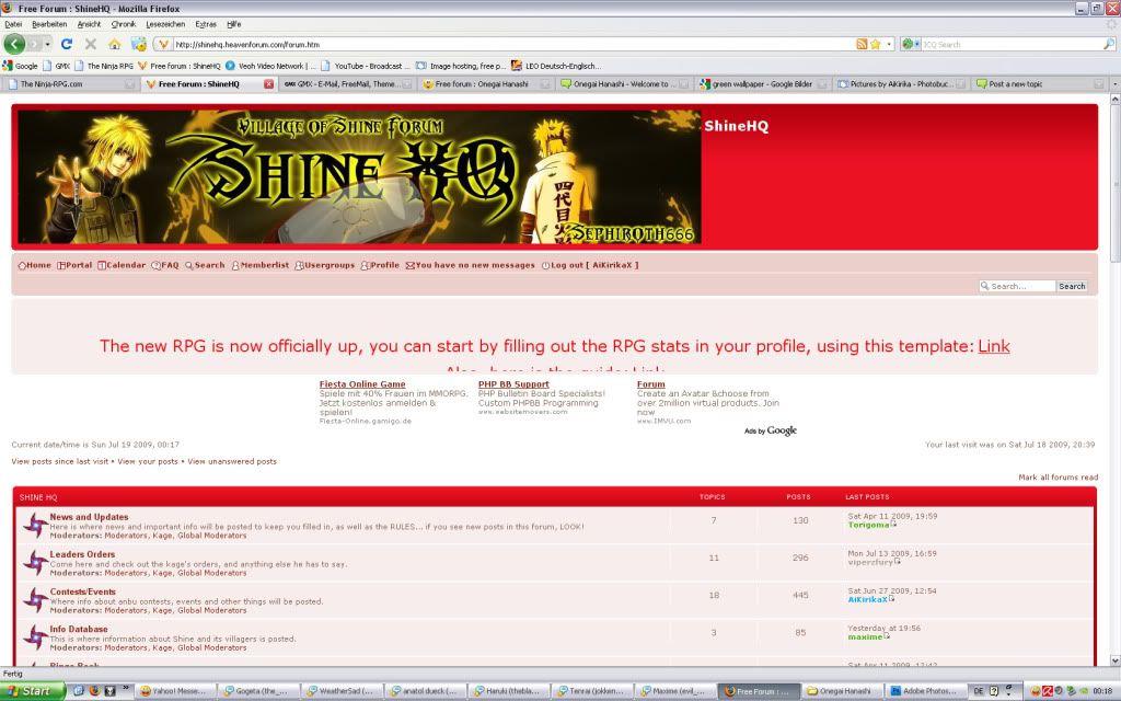banner problem Shine1