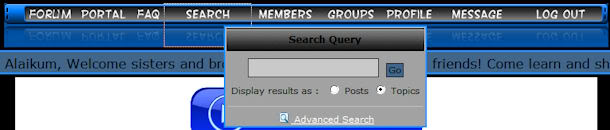 Forum Tutorials Search1