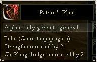 Accesories, Relics, Trinkets, etc. Patriot