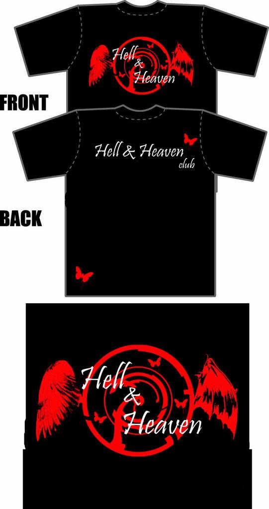 playera hell & heaven