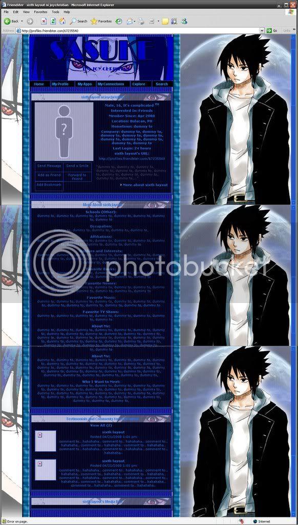 jogzzkie's CSS layout compilation Sasuke