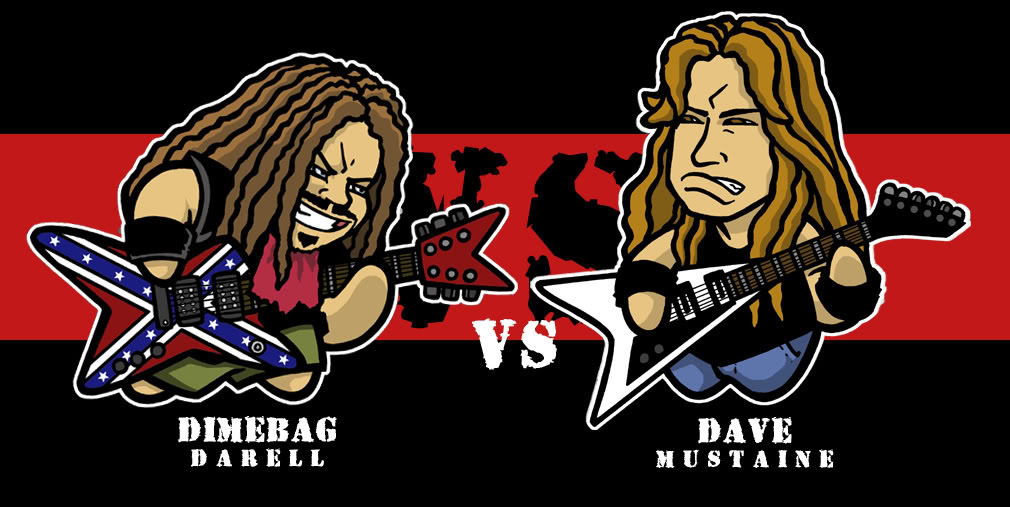 Darell vs. Mustaine Dime_vs_Dave_by_Twoheaded_Dawg