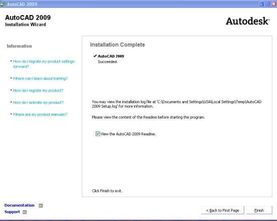 AutoCAD 2009 - Autodesk Win 32 bits - En Inglés Cad2009-2
