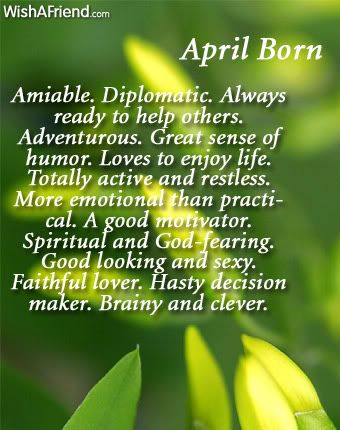 What does your birth month say about you? April