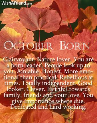 What does your birth month say about you? October