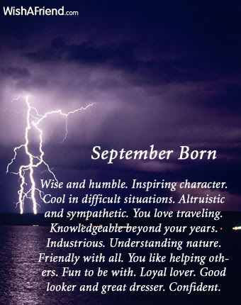 What does your birth month say about you? September