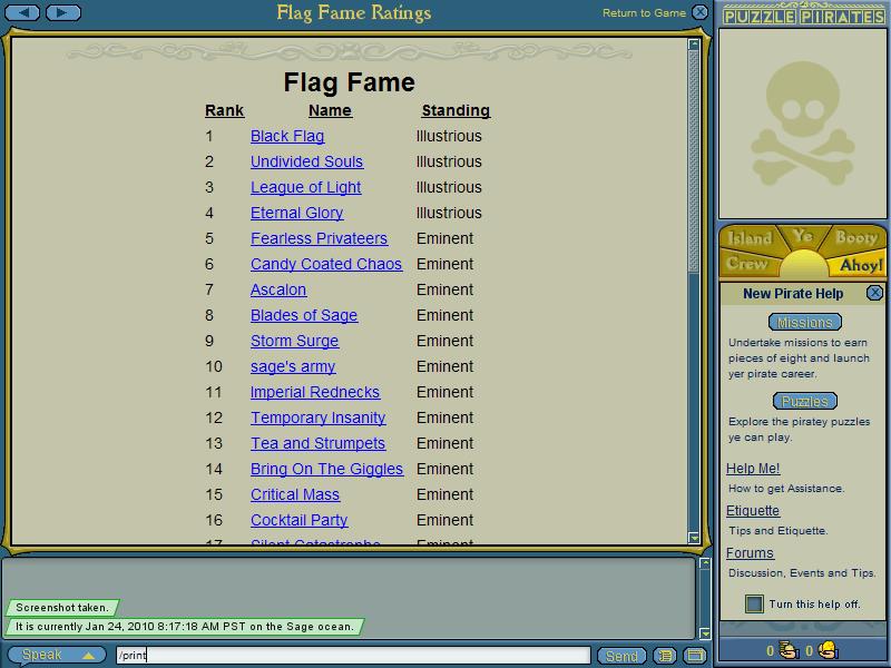 Fame record PuzzlePiratesAlkhader2