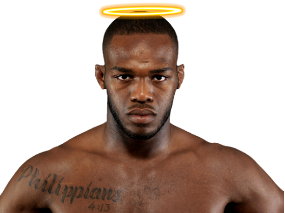 Jon Jones Turns-up the Charm Factor and Sarcastically Offers Tyson Griffin a Job as his Waterboy  JonJonesAngel2_zpsce4a9b70