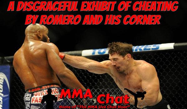 A Disgraceful Exhibit of Cheating by Romero and his Corner TimKennedyvsYoelRomero600x350_zpsa062e462