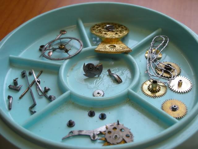cloche - Restauration complète d'une montre à sonnerie sur cloche en images  Cadrature