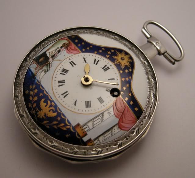 Restoration of an enameled verge pocket watch  DSCN1800-1
