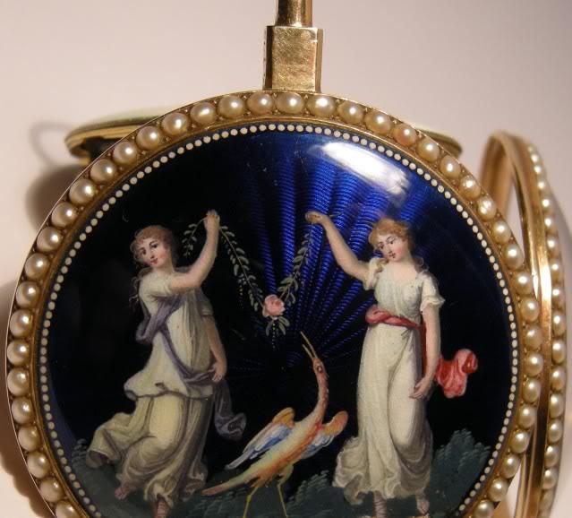 Une rare montre émaillée à seconde centrale DSCN9586-1-2