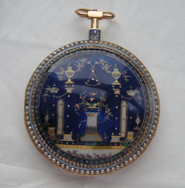 Une rare montre émaillée à seconde centrale DSCN9884-1