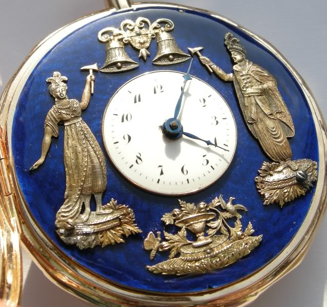 A beautiful automaton pocket watch with enameled dial DSCN9961-1-2