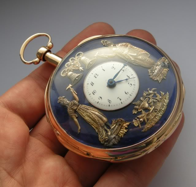 A beautiful automaton pocket watch with enameled dial DSCN9979-1-7