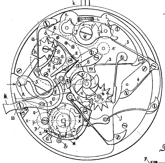 "A rare ""Grande Sonnerie"" pocket watch Brevet3-1"