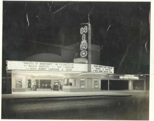 Hi-Ho Theatre Marquee, Bruce Davis MyCinemaParadisio