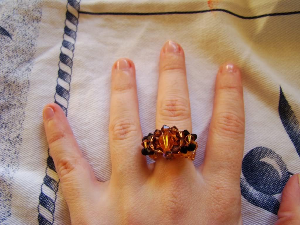 O 1º anel em swarovsky da Carlita DSC00461