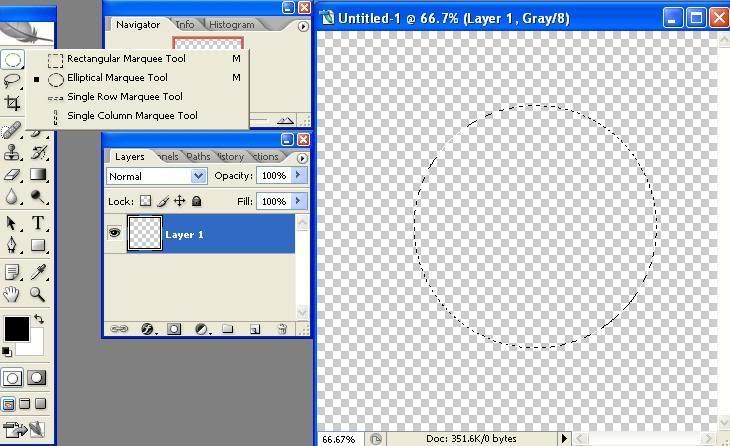 Tạo con dấu bằng PhotoShop 3-1