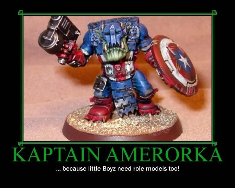 Kaptain AmerORKa Motivator40k-KaptainAmerORKa