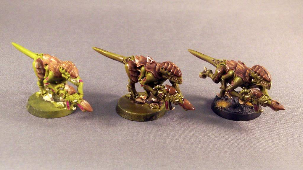 Dwarfs going for a dip! Now with some greenskins. DippingTrials-FSideBySide01