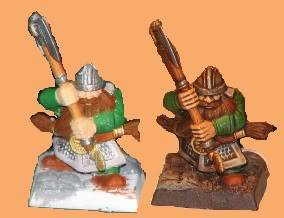 Dwarfs going for a dip! Now with some greenskins. Dwarves