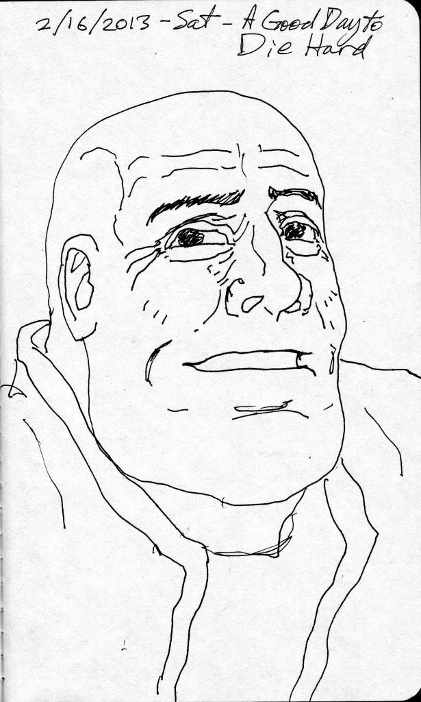 DAILY WARM-UP SKETCH 2013 - Page 8 BruceWillis001