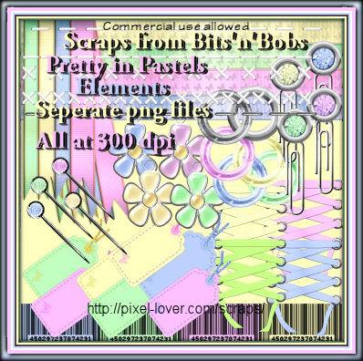 Pretty in Pastels kit Prettypastelelementssamps