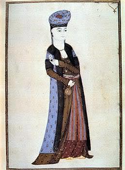 15th century Turkish Women's Clothing Buhari-winter