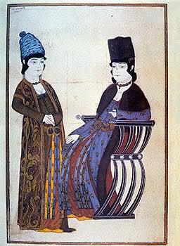 15th century Turkish Women's Clothing Bulhari-seated