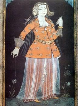 15th century Turkish Women's Clothing Levni-orange