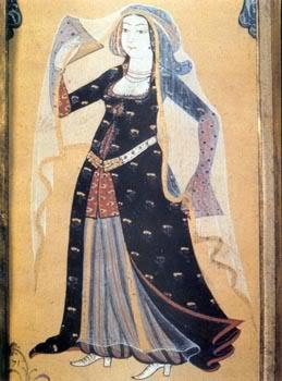 15th century Turkish Women's Clothing Levni-sheerveil